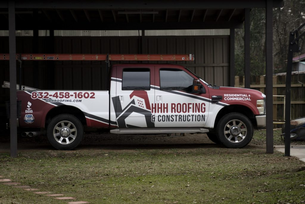 HHH local Roofing Company Truck