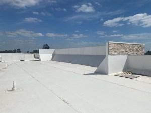 TPO Roof Replacement job in Houston