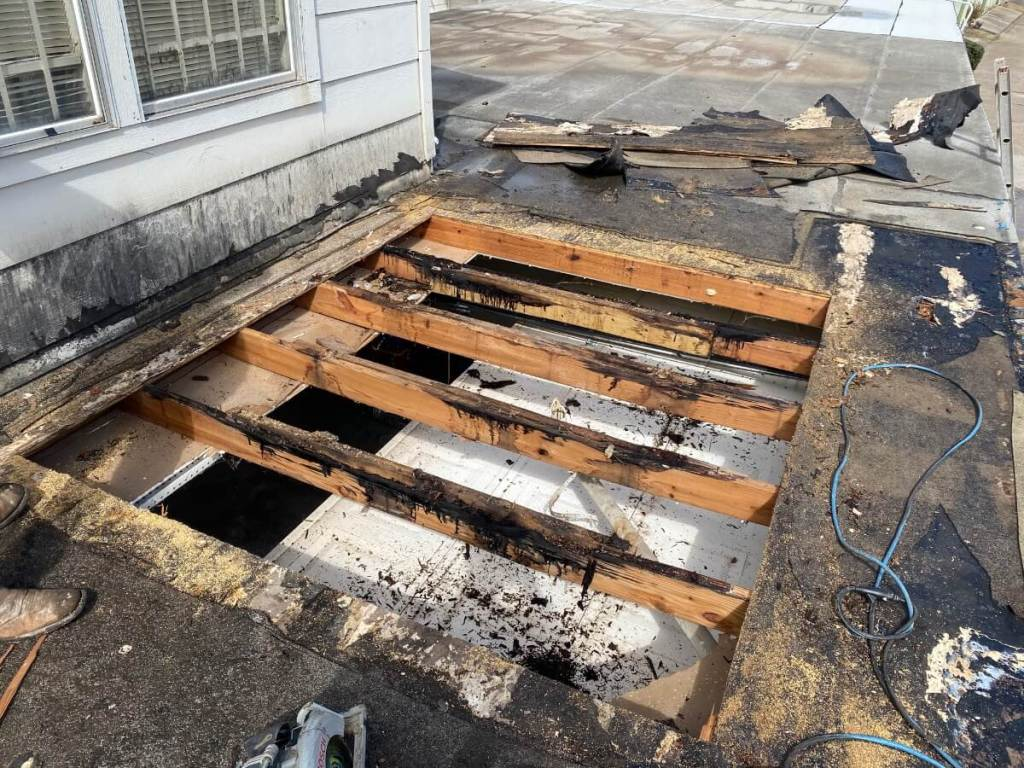 Flat-Roof-Damaged-Rafters