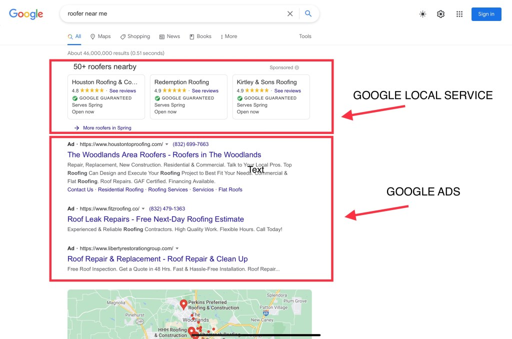 how to hire a roofer google local