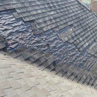 major wind shingle damage